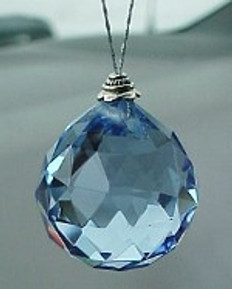 """Career"" Blue Crystal Ball 30mm (ready to hang)"