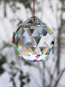 """Activating good Energy """"Faceted Crystal Ball 20mm"""" SPECIAL PRICE"""