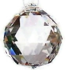 Faceted Crystal balls SET of 2-40mm SPECIAL PRICE