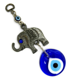Evil Eye with Elephant Charm