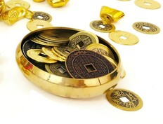 Bowl of Chinese Coins to Activate your Wealth Luck