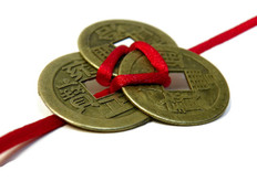 3 Coins Red Ribbon