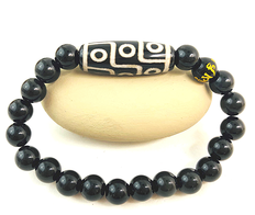 DZI 9 Eyes  Obsidian - Cleanse Negative Energy & Dissolves Obstacles