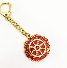 Flaming Magic Wheel Key chain to Control legal disputes