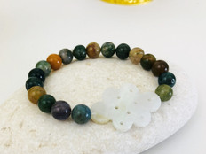 Unblocked Roads & Success -Jade Knot & Blood Stone bracelet