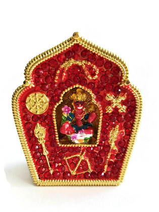 Red Tara Gau Home Protection Amulet