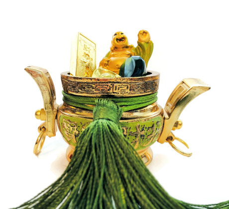 Green Treasure Bowl for Growing Money Luck