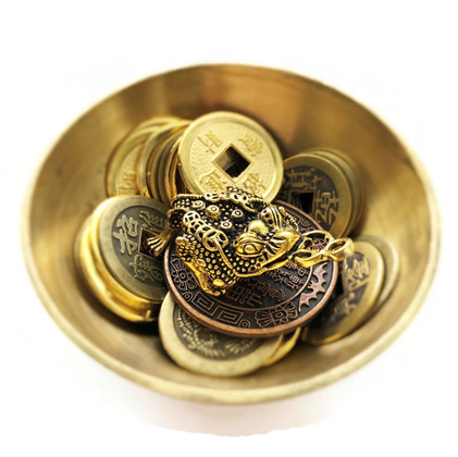Money Toad Gold Coins Bowl