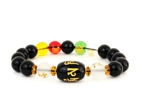 Feng Shui Obsidian Five-Element Wealth Bracelet