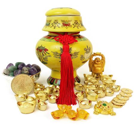 """NEW""  Auspicious Wealth Vase"