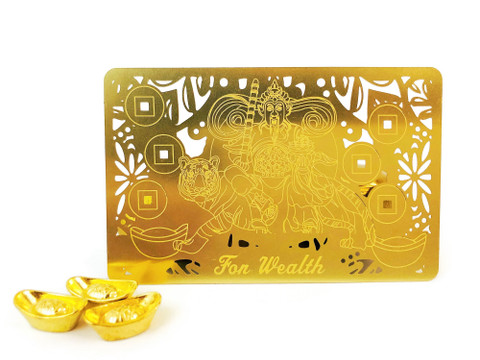 2021- Carry the GOLD Talisman Card  to Increase your Wealth Luck