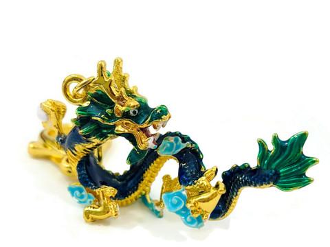 CELESTIAL WATER DRAGON FENG SHUI KEYCHAIN