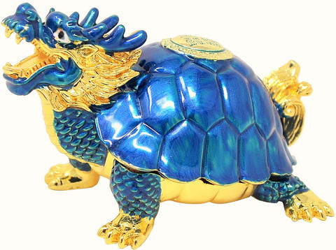 Blue Dragon Tortoise for Business Success & Support