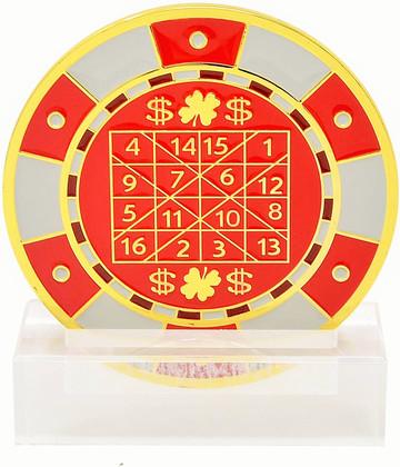 Feng Shui Number Winning-Chip Red Digit Mirror