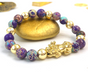 Feng Shui Pixiu Bracelet for Wealth- 18K Gold- Sea Sediment