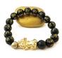 FAVORITE***Wealth Bracelet- 18K GOLD + Real Obsidian