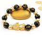FAVORITE** Good Fortune & Wealth - 18K Gold + Real Obsidian
