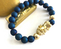 Pixiu for Entrepreneurs & Business People. 18K Gold + Real Agate