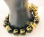 GAMBLING Pixiu Bracelet- 18K Gold + Real Obsidian