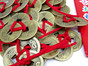 Feng Shui Coins tied .  30 Units + 30 Red Envelopes