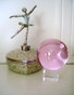 Pink Crystal Ball to energize the Earth Element in the West