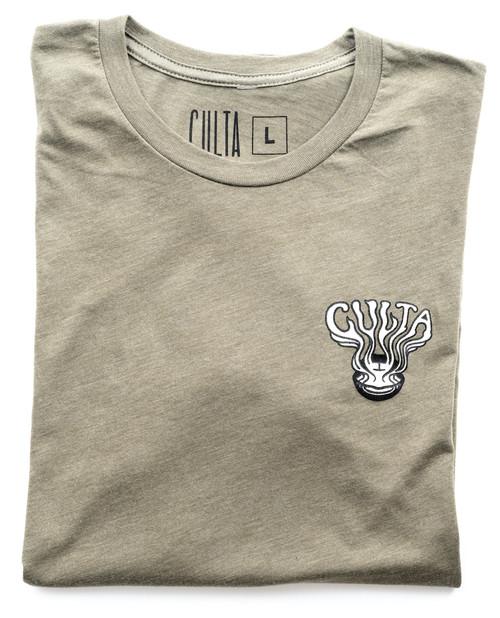 CULTA 710 olive t-shirt front 1