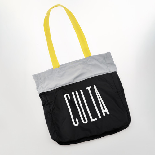 CULTA NYLON TOTE [Black/Gray/Gold]