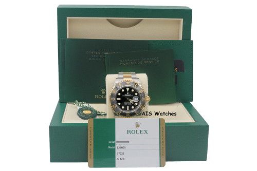 Rolex 126603 SEA-DWELLER 43MM 18K Yellow Gold / Stainless Steel Box & Papers