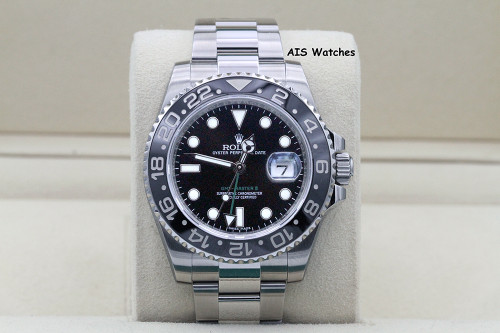 Rolex 116710LN GMT Master II Black Ceramic Insert Random Serial Box & Papers