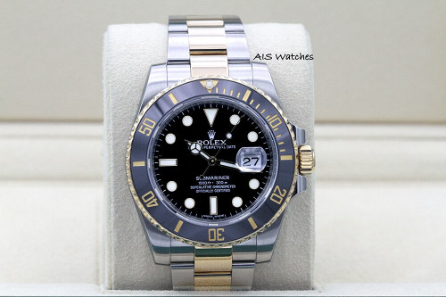 Rolex Submariner 18k/SS 116613LN Black Dial Random Serial Box & Papers