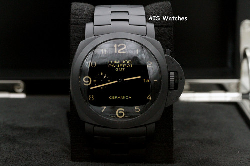 Panerai PAM 00438 Tuttonero Luminor 1950 3 Days GMT Automatic Ceramica 44MM B&P