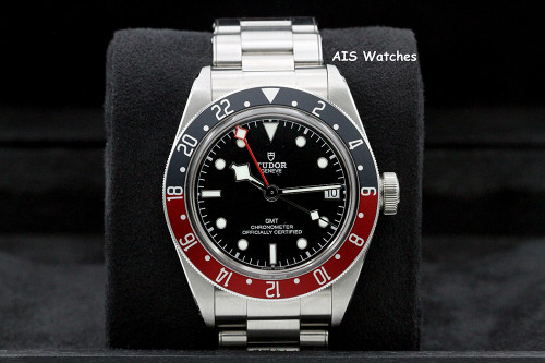 Tudor 79830RB Black Bay GMT Pepsi Stainless Steel Bracelet Box & Papers