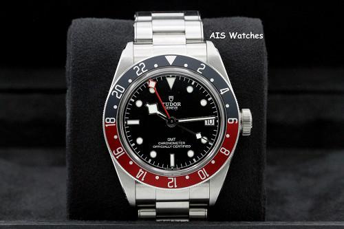 Tudor 79830RB Black Bay GMT Pepsi Stainless Steel Bracelet Box & Papers