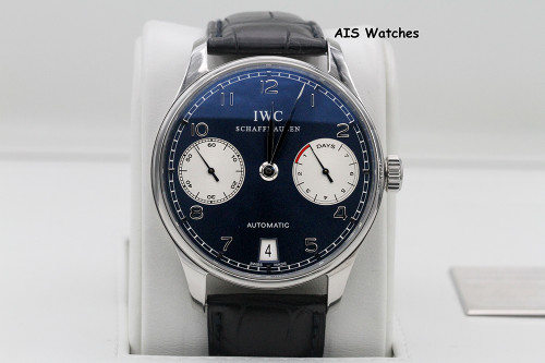 IWC Schaffhausen Portuguese 42.3MM Automatic 7 Day Laureus Edition IW500112 B&P