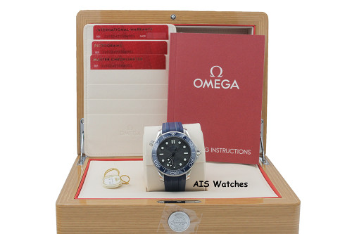BNIB Omega Seamaster 300M 42MM Diver Grey Wave Dial 210.32.42.20.06.001 B&P