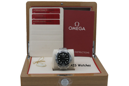 BNIB Omega Seamaster 300M SS 42MM Diver Black Wave Dial 210.30.42.20.01.001 B&P