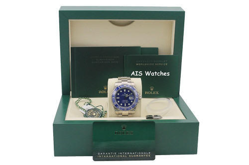 BNIB Rolex Submariner Ceramic 116619LB 18K White Gold SMURF Blue Dial B&P