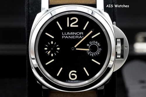 Panerai PAM 590 Luminor 8 Days Acciaio Breverrato 44MM Box & Papers