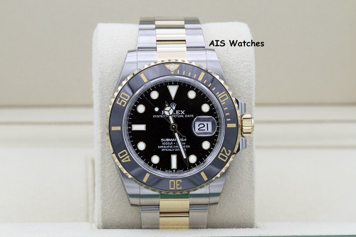 BNIB Rolex Submariner 41MM 18k/SS 126613LN Black Dial Box & Papers
