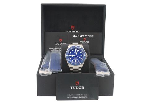 BNIB Tudor Pelagos 25600TB Blue Dial Titanium Box & Papers - IN HOUSE MOVEMENT