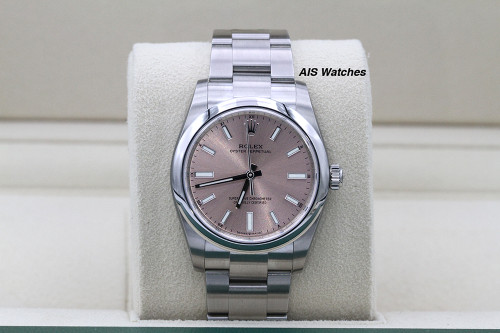 BNIB Rolex 124200 Oyster Perpetual 34 MM Pink Dial Box & Papers