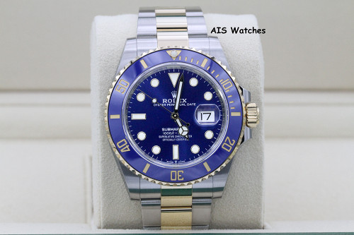BNIB Rolex Submariner 41MM 18k/SS 126613LB SunBurst Blue Dial Box & Papers