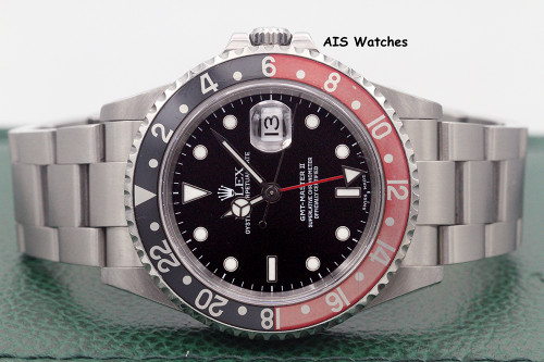 Rolex GMT Master II 16710 P Serial Faded Coke Insert Box & Papers