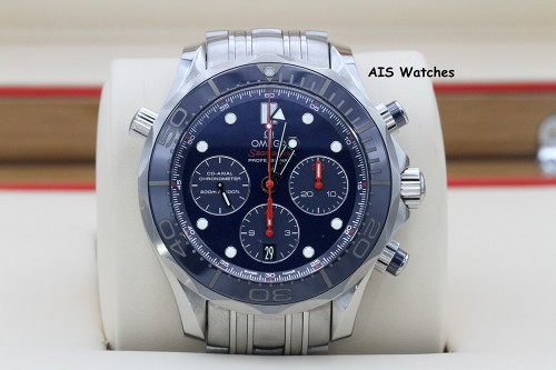 Omega Seamaster Co-Axial Chronometer Chronograph 300M 212.30.44.50.03.001 B&P