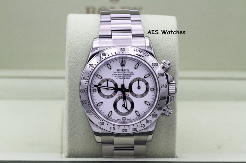 Rolex Cosmograph Daytona 116520 White Dial Random Serial Box & Papers