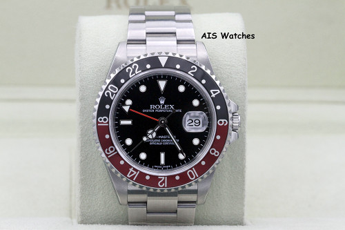 Rolex GMT Master II 16710 Z Serial 3186 Movement Coke Insert Box & Papers