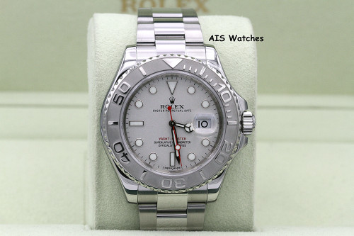 Rolex YachtMaster 116622 Platinum Dial Random Serial Box & Papers