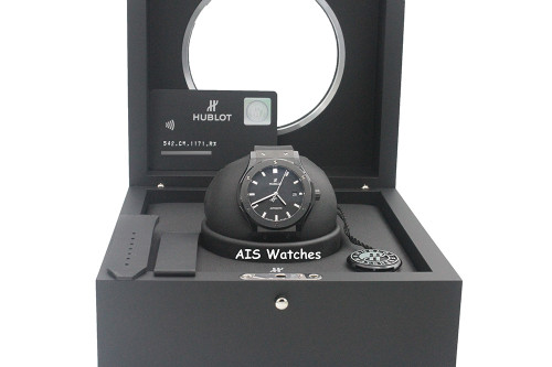 Hublot Classic Fusion Black Magic 542.CM.1171.RX Black Ceramic 42MM Box & Paper