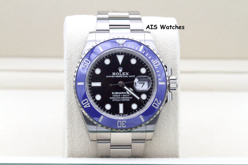 BNIB Rolex Submariner Ceramic 126619LB 18K White Gold Blue Bezel B&P