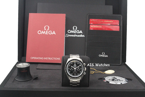 BNIB Omega SpeedMaster Moon Watch 311.30.42.30.01.006 Sapphire Sandwich Crystal